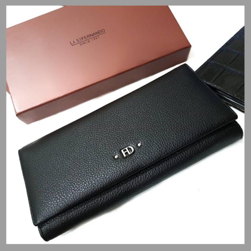 dc031cad4d29 Кожаный женский кошелек LAS FERNANDO | Женские аксессуары