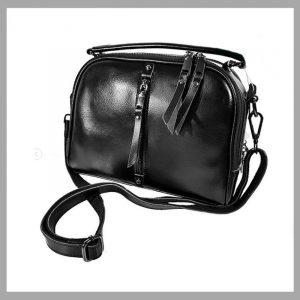 Черная сумки через плечо