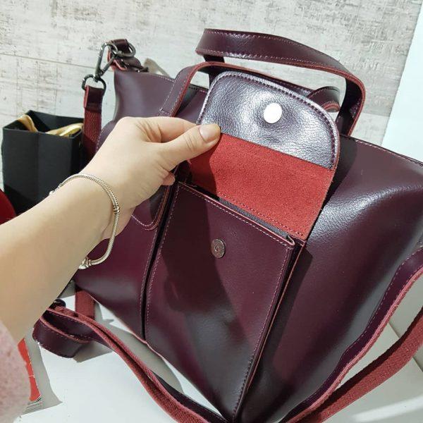 Женская сумка цвет марсала