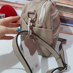 Мягкая сумка из натуральной кожи